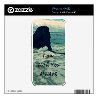 Inspirational Bible Verse I am With You Always Decal For The iPhone 4S