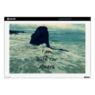 Inspirational Bible Verse I am With You Always Laptop Decal