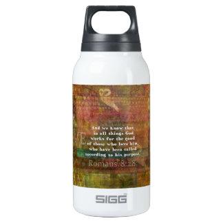 Inspirational Bible Verse Insulated Water Bottle
