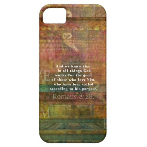 Inspirational Bible Verse iPhone 5 Cases