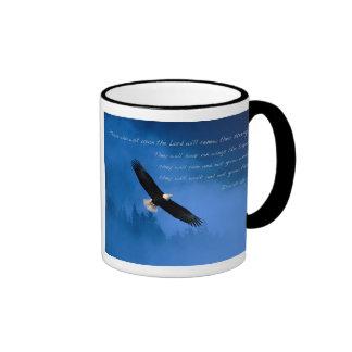 Inspirational Bible Verse Isaiah Ringer Coffee Mug