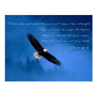Inspirational Bible Verse Isaiah Postcard