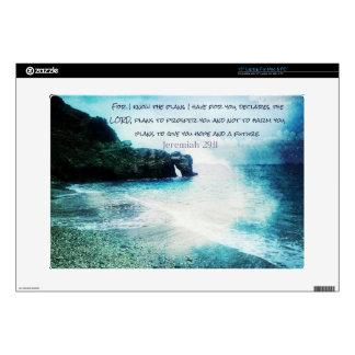 """Inspirational Bible Verse Jeremiah 29:11 15"""" Laptop Skin"""