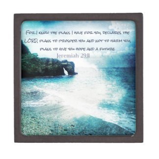 Inspirational Bible Verse Jeremiah 29:11 Keepsake Box