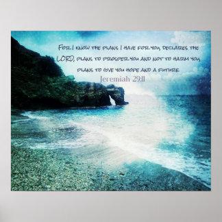 Inspirational Bible Verse Jeremiah 29:11 Poster