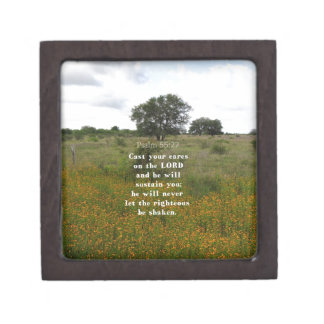 Inspirational Bible Verse Keepsake Box