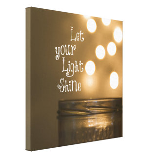 Inspirational Bible Verse Let your light shine Canvas Print