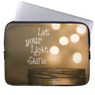 Inspirational Bible Verse Let your light shine Computer Sleeve