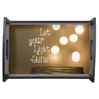 Inspirational Bible Verse Let your light shine Service Trays