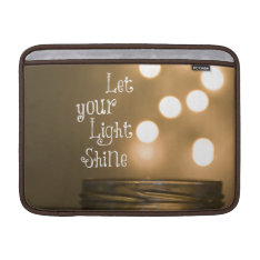 Inspirational Bible Verse Let Your Light Shine Sleeve For Macbook Air at Zazzle