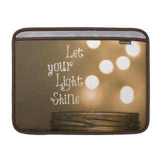 Inspirational Bible Verse Let your light shine Sleeve For MacBook Air
