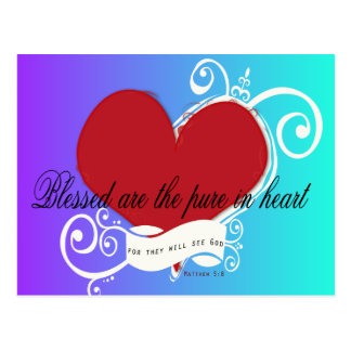 Inspirational Bible Verse Matthew 5:8 Blessed are. Postcard