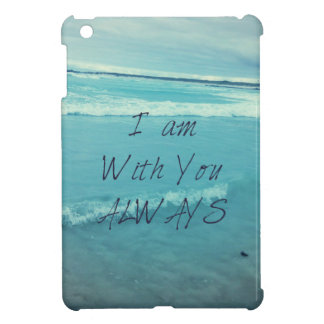 Inspirational Bible Verse ocean - I am With You iPad Mini Cover