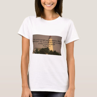 Inspirational Bible Verse on Lighthouse photo T-Shirt