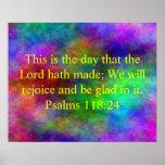 Inspirational bible verse poster