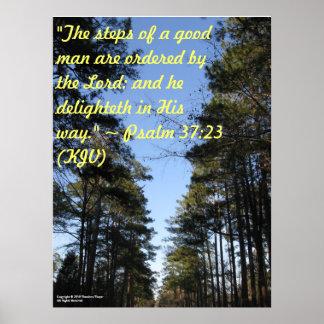 Inspirational Bible verse poster - Psalm 37:23