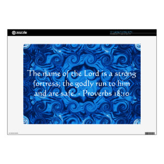 "Inspirational Bible verse Proverbs 18:10 Skin For 15"" Laptop"