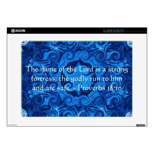 Inspirational Bible verse Proverbs 18:10 Skin For 15
