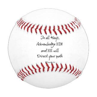 Inspirational Bible Verse Quote Baseball