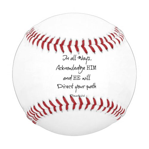 Inspirational Bible Verse Quote Baseball
