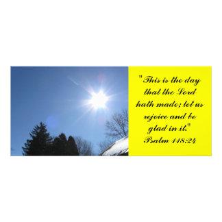 Inspirational Bible verse rack card - Psalm 118:24