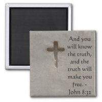 Inspirational Bible Verse TRUTH John 8:32 Magnet