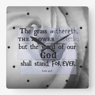 Inspirational Bible Verse: Word of God Shall Stand Clock