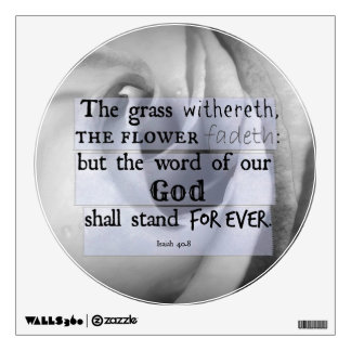 Inspirational Bible Verse: Word of God Shall Stand Room Decals