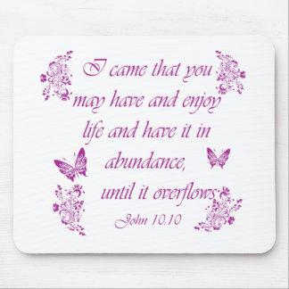 Inspirational Bible Verses Mouse Pad