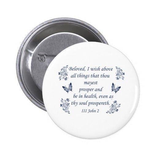 Inspirational Bible verses Pinback Button