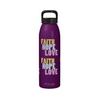 Inspirational Blessings FAITH HOPE LOVE Bottle Reusable Water Bottles