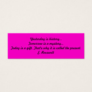 Inspirational Book Mark Mini Business Card