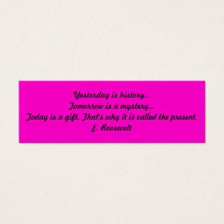 Inspirational Book Mark Mini Business Card