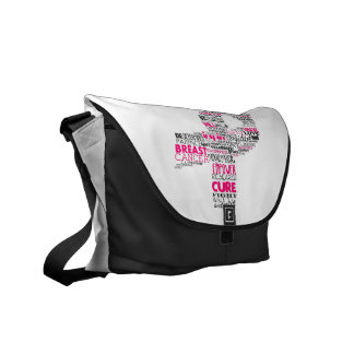 Inspirational Breast Cancer Awareness Ribbon Courier Bag