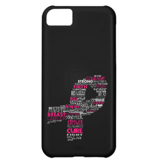 Inspirational Breast Cancer Awareness Ribbon Cover For iPhone 5C