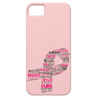 Inspirational Breast Cancer Awareness Ribbon iPhone SE/5/5s Case