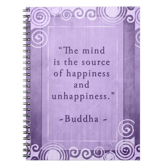 Inspirational Buddha Happiness Quote Notebook