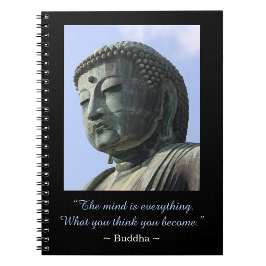Inspirational Buddha Photo Quote Notebook
