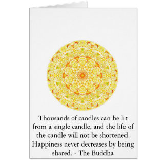Inspirational Buddha Quote Card