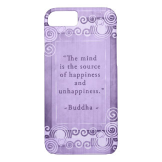 Inspirational Buddha Quote Typography iPhone 7 Case