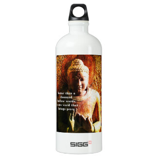 Inspirational Buddhist PEACE quotation SIGG Traveler 1.0L Water Bottle