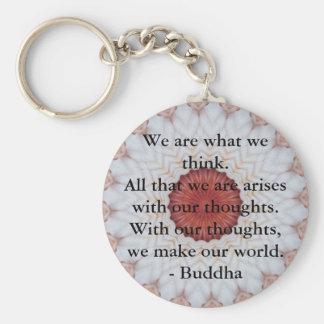 INSPIRATIONAL Buddhist Quote, Saying Basic Round Button Keychain