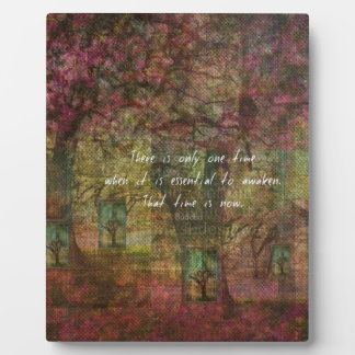 Inspirational Buddhist Quote with Dreamy painting Plaques