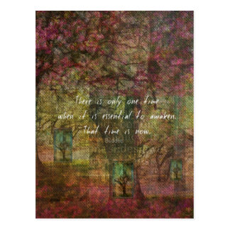 Inspirational Buddhist Quote with Dreamy painting Postcard