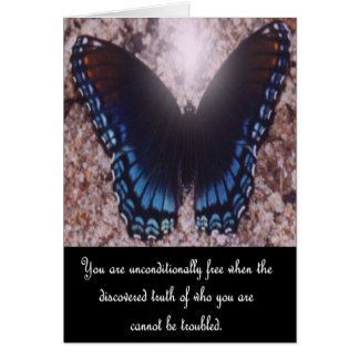 Inspirational Butterfly Note Card 1