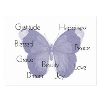 Inspirational Butterfly Postcard