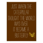 Inspirational Butterfly Quote Poster