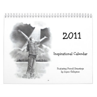 INSPIRATIONAL CALENDAR WITH PENCIL DRAWINGS