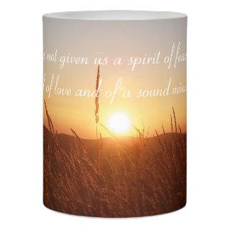 Inspirational Candle - 2 Timothy 1;7