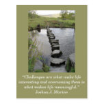 Inspirational card; Challenge 1 - Postcard